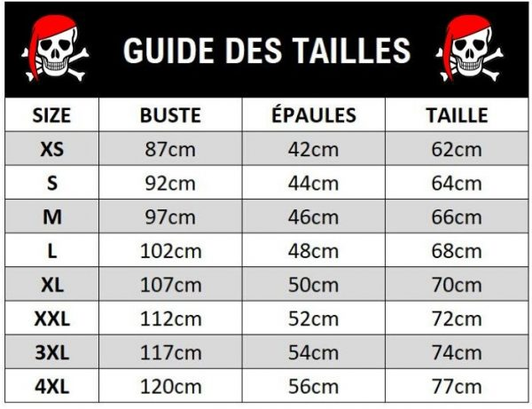 guide des tailles tshirt skull 0775aae9 a7d8 4456 864f 62bbb54bf2f4